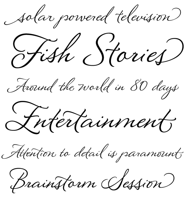 Great script fonts Calligraphy text