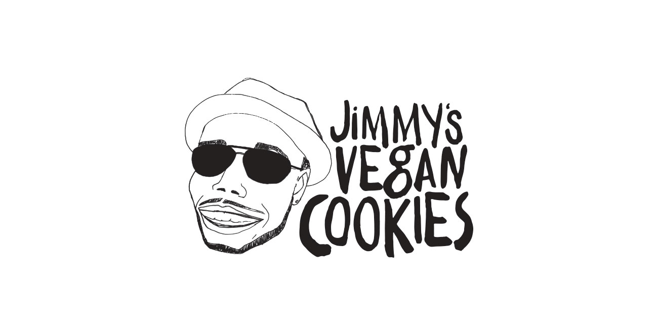 Jimmys vegan cookies logo design - LIQPIX