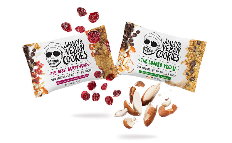 Jimmys vegan cookies package design - LIQPIX